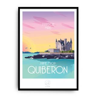 Pardon mais j'aime trop Quiberon Affiche La Loutre
