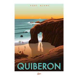 Pointe du port blanc quiberon Clavé illustration