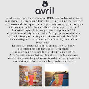 Page marque Avril